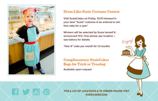 Susie Cakes Halloween Costume Contest