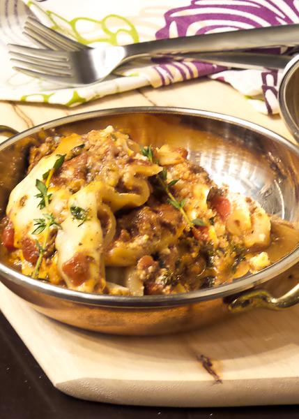Slow Cooker Bison Lasagna recipe