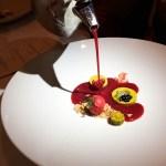 Berry Soup and Pistachio Panna Cotta