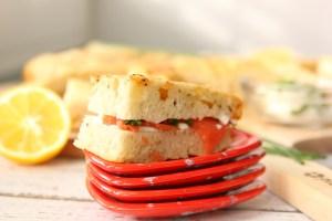 Cheesy Lemon Caraway Focaccia