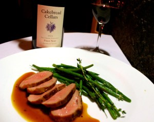 Duck Breast with Pinot Noir Sauce