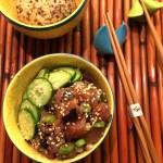 Hawaiian Ahi Tuna Poke | ShesCookin.com