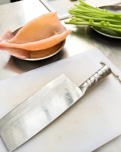 How to prepare squid, Chinese cooking class