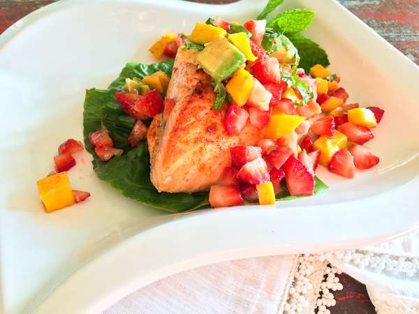 Salmon with Limoncello Fruit Salsa-3