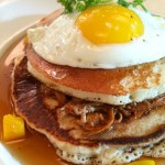 Pulled Pork Pancakes, Scott's Restaurant & Bar, jazz brunch