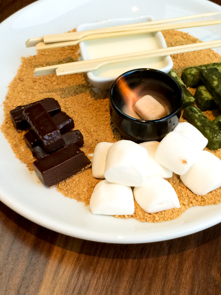 Deconstructed S'mores with Dark and Matcha Dusted White Chocolate