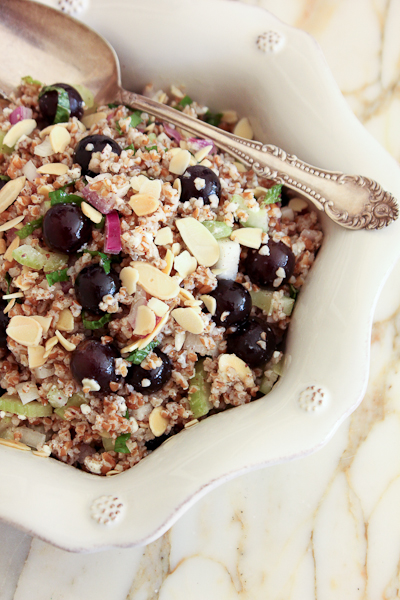 Grape & Almond Bulgur Salad-