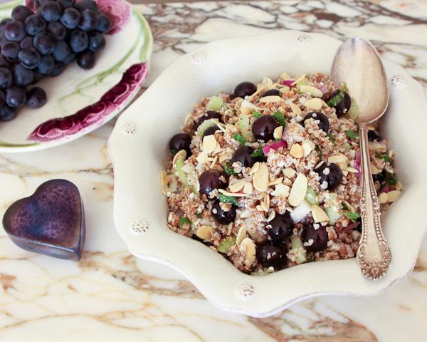 Grape & Almond Bulgur Salad-