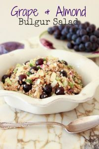 Grape & Almond Bulgur Salad
