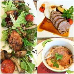 Quail with balsamic, Duck Confit, Lamb Saddle, St. Regis Osaka
