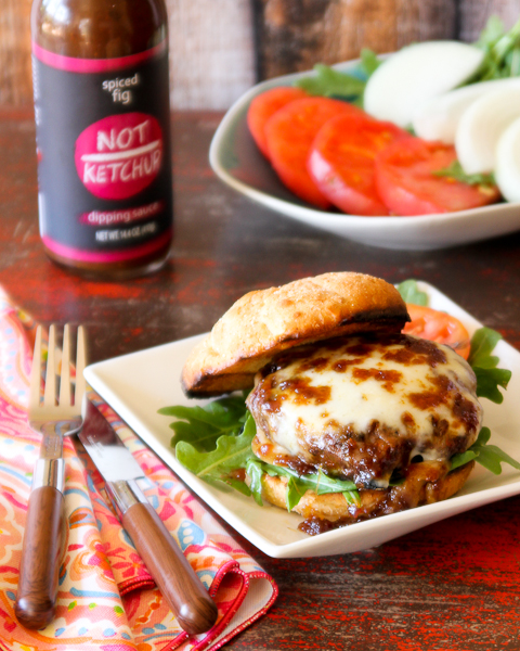 Fig And Smoked Mozzarella Bison Burger For Burgermonth