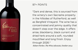 "Hall Wines 2012 ""Kathryn Hall"" Cabernet Sauvignon | ShesCookin.com"