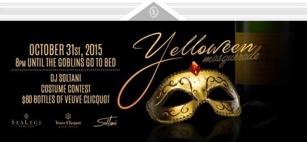 "SeaLegs ""Yelloween"" Veuve Clicquot Halloween event"