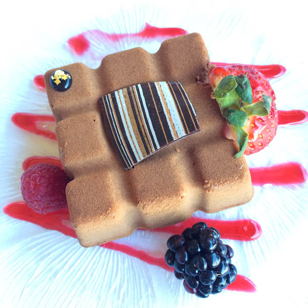 Chocolate Crunch: Dark Chocolate Mousse, Flourless Chocolate Cake, Hazelnut + Rice Crispy Crunch