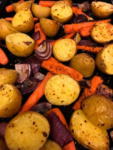 Fitness Meal Planning - Roasted Carrots and Potatoes | ShesCookin.com