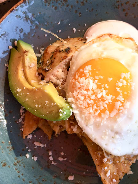 Chilaquiles con Pollo, EATS Kitchen | ShesCookin.com