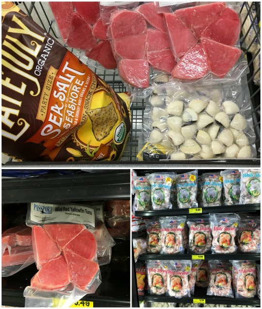 Grocery Outlet frozen seafood selection