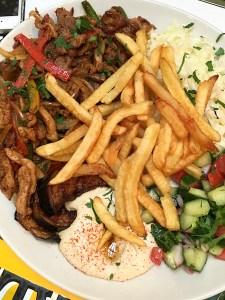 L'AS du Fallafel- Mixed Grill Plate | ShesCookin.com