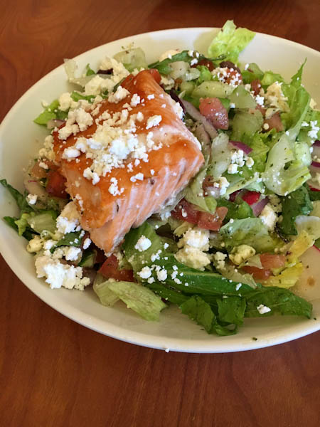 Salmon with Salad | Seven for $7 Lunch Special - Stonefire Grill