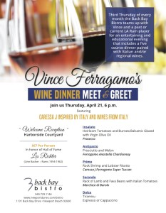 Wine Meet & Greet with Vince Ferragamo