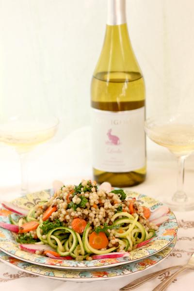 Couscous-Lentil Zoodle Salad | ShesCookin.com