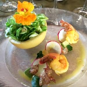 Farm Salad in Grapefruit - Oceans & Earth   ShesCookin.com
