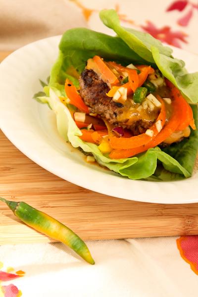Low Carb, Paleo Bison Bikini Burger | ShesCookin.com