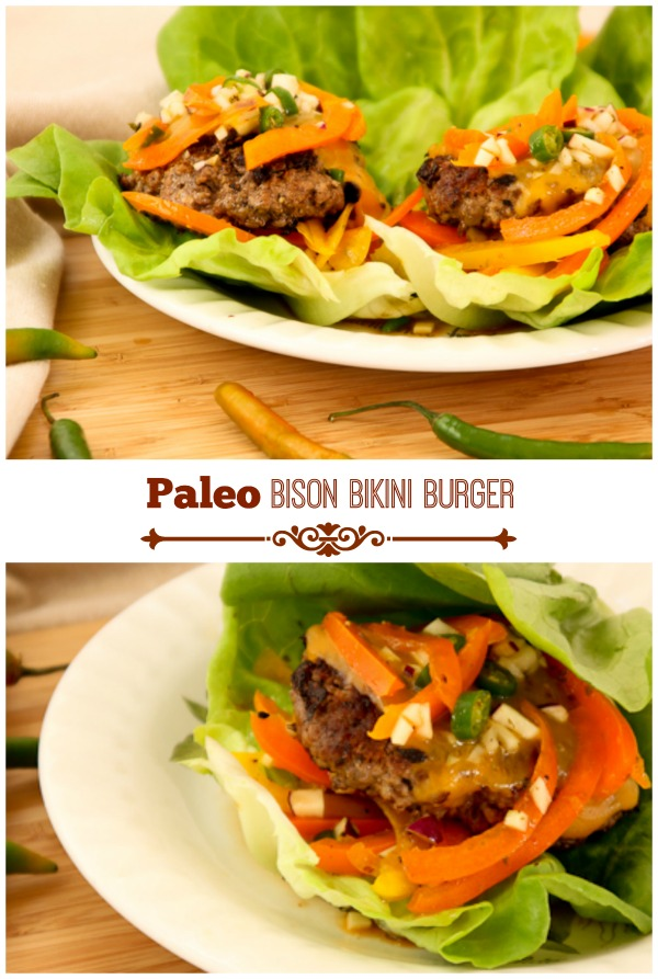 Paleo Bison Bikini Burger | ShesCookin.com