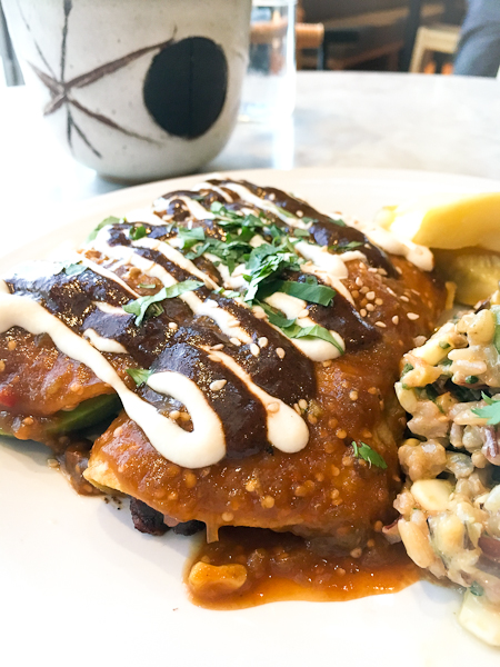 Mole Enchiladas - Cafe Gratitude, Newport Beach | ShesCookin.com-4751