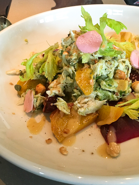 Jumbo Lump Crab and Roasted Beet Salad | ShesCookin.com