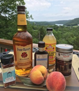Smoky Peach Bourbon Barbecue Sauce-| ShesCookin.com