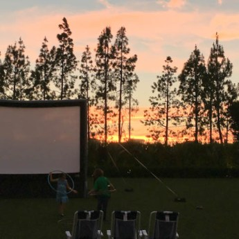 Backyard Movie Nights At Hotel Irvine