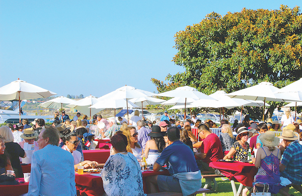 VIP section at Newport Beach Lobsterfest at Newport Dunes | ShesCookin.com