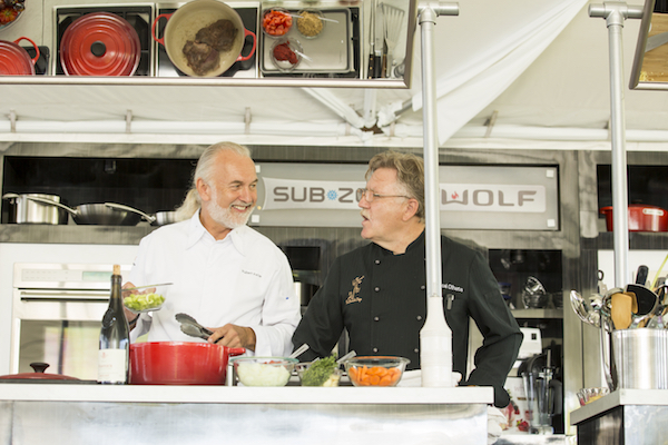 Chef Hubert Keller and Chef Pascal Olhats