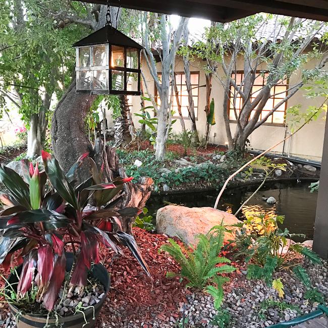 Entrance ot Orange Hill restaurant