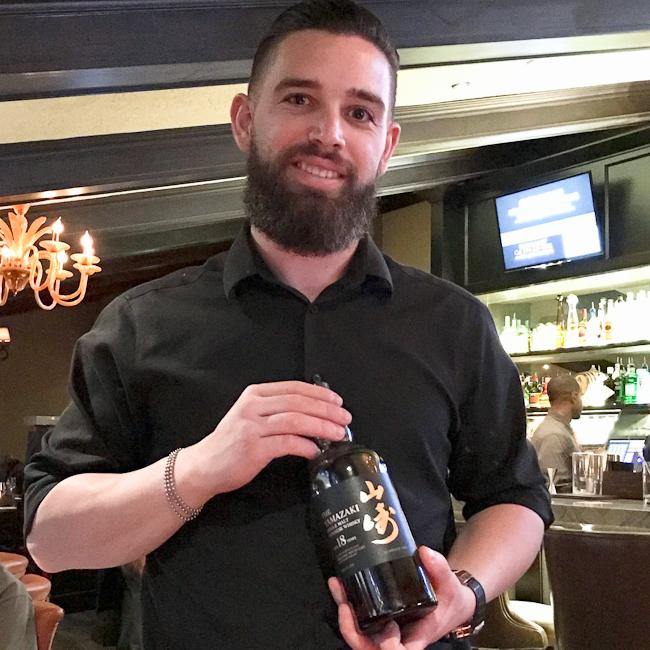 Bar man at Orange Hill restaurant