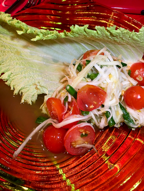 Green Papaya Salad | ShesCookin.com