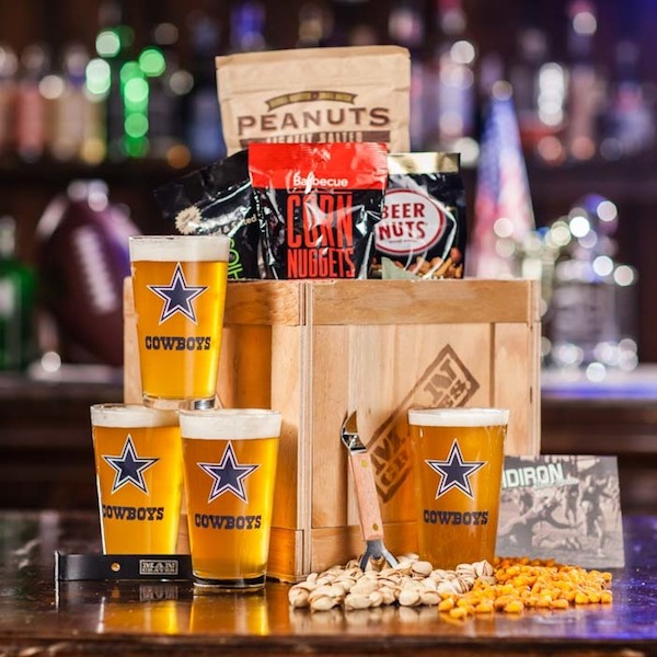 Holiday Gift Ideas for Beer and Booze Enthusiasts, Man Crates NFL Barware Crate