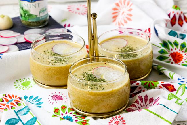 Carrot Pineapple Ginger Detox Soup | ShesCookin.com