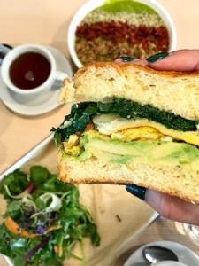JSH Marina Cafe breakfast sandwich, Lido Marina Village