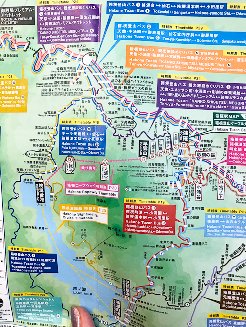 Map of Hakone | 10 Tips for First Time Travelers to Japan | ShesCookin.com