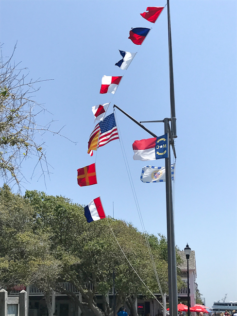 Maritime flags spell out Beaufort | ShesCookin.com