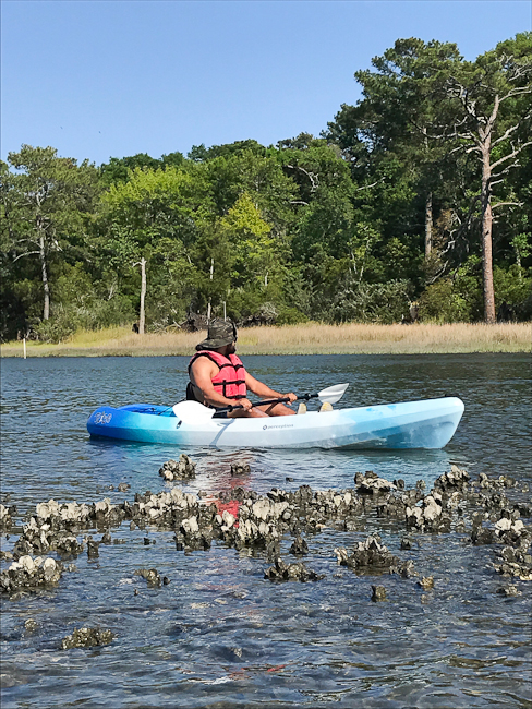 Kayaking at Bogue Banks | ShesCookin.com