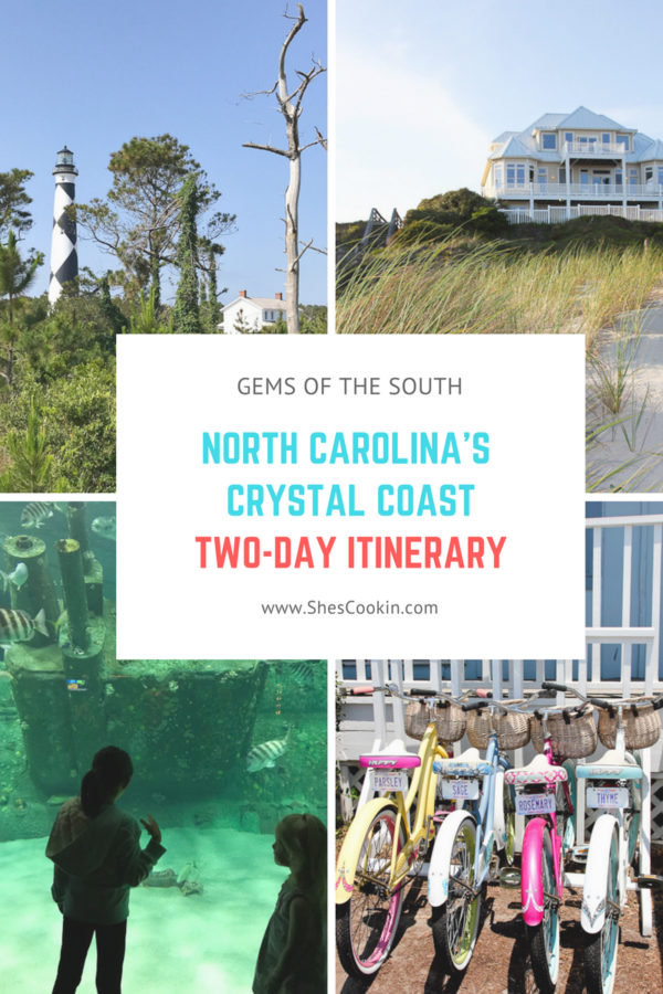 North Carolina's Crystal Coast, Two-Day Itinerary | ShesCookin.com