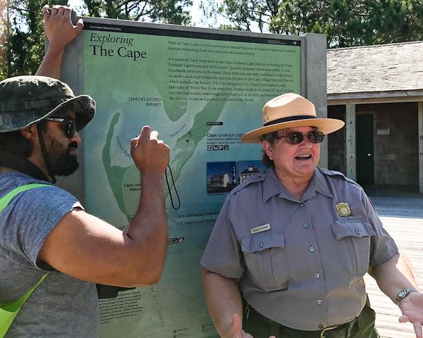 Park ranger at Cape Lookout National Seashore