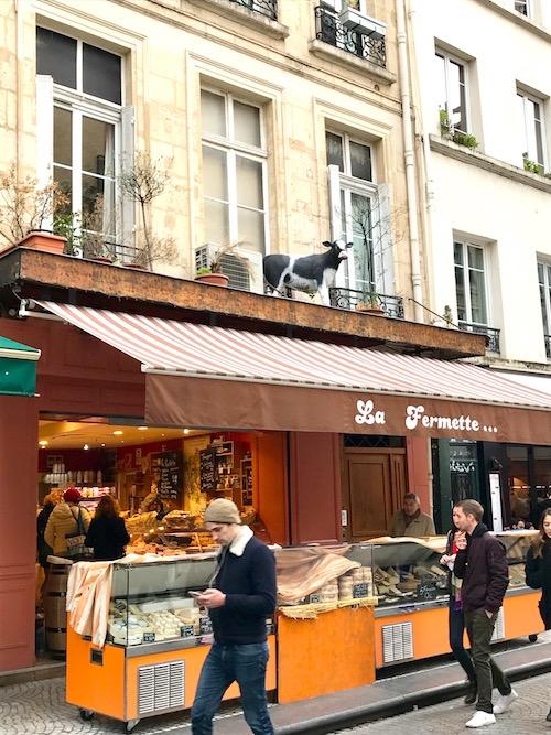 La Fermette cheese shop, Rue Montorgueil in Paris