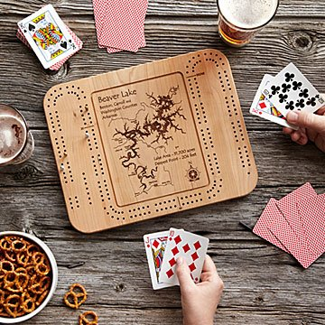 Gift Guide - Lake Art Cribbage Board