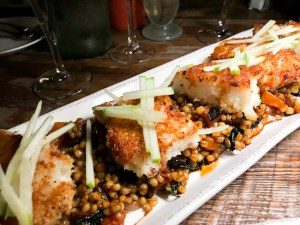 Panko Crusted Cod, Farmhouse at Rogers Gardens | ShesCookin.com