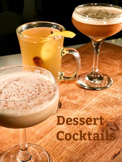 Dessert Cocktails | Bourbon Banana Peanut Butter Milkshake, Espresso Martini, Hot Toddy