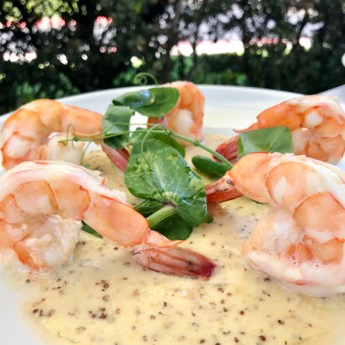 Pommery Shrimp, Spaghettini Seal Beach | ShesCookin.com
